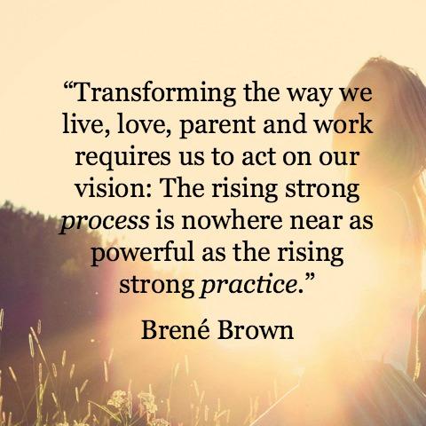 Brené Brown process vs practice
