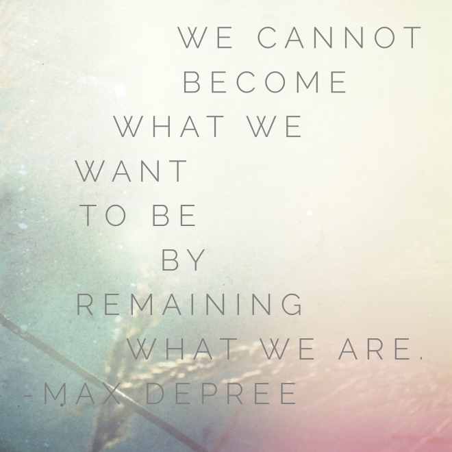 what we want to be