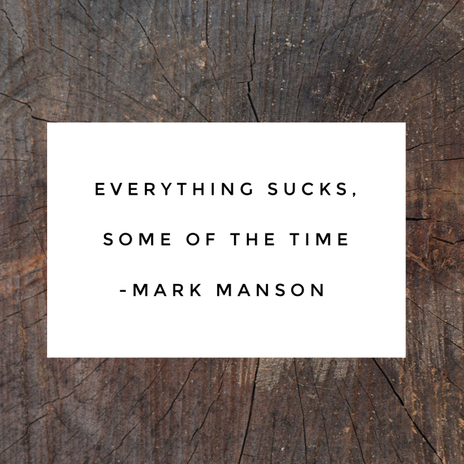 everything sucks Mark Manson