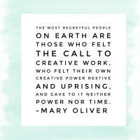 on Mary Oliver, regrets, and guarantees